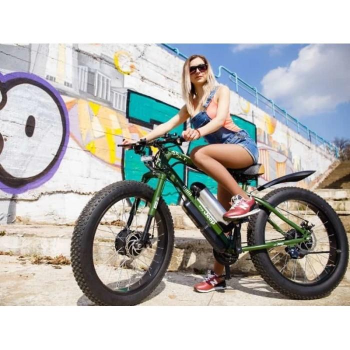 Электровелосипед ELECTRO HYBRID полный привод зеленый